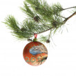 Fur-tree ball with image of dragon. — Stok Fotoğraf #7631020