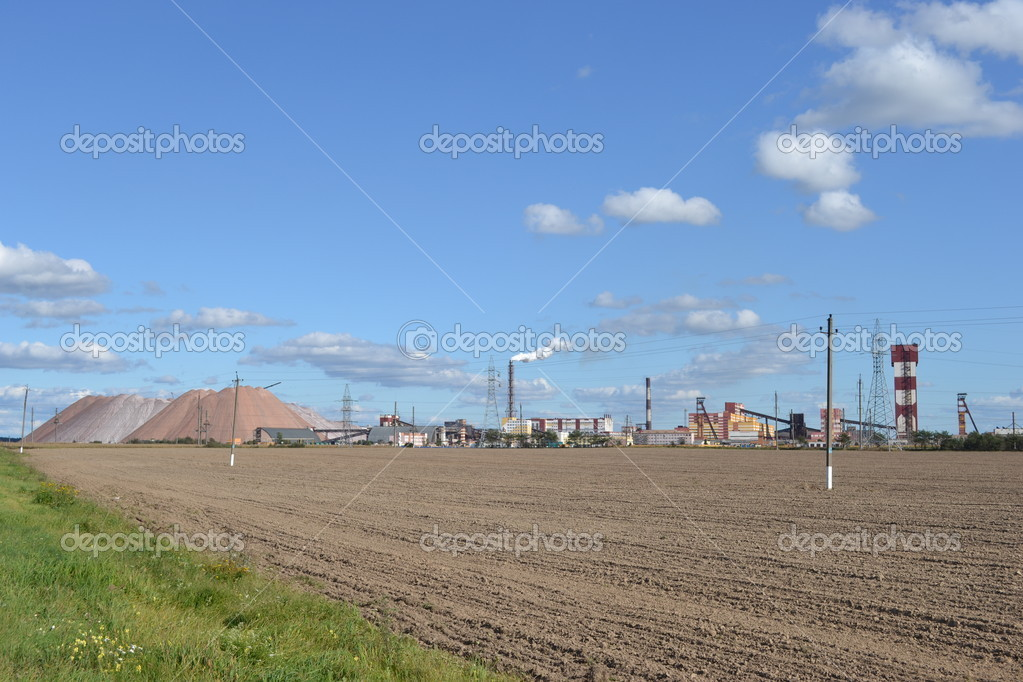 Soligorsk, industrial zone. — Stock Photo #6830556
