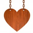 Wooden heart sign — Stock Photo