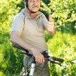 Bicyclist — Stock Photo