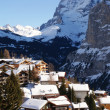 Stock Photo: Alpine Village in winter day.
