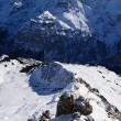 Stok fotoğraf: High Alpine mountains under snow in winter