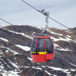 Stock Photo: Red cable car in Alps