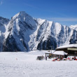 图库照片: Alpine skiing resort in Austria