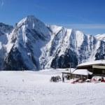 Alpine skiing resort in Austria — Stock Photo