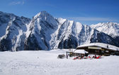Alpine skiing resort in Austria — Stock Photo