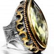 Ottoman silver ring. — Stock Photo