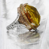 Ottoman turkish ring — Stock Photo