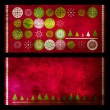 Christmas grunge cards - Stock Photo