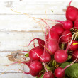 Radish on grunge background — Stock Photo