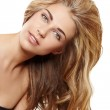 Blond woman with long hair — Stock Photo #7279009