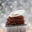Creamy chocolate cupcake — Stock Photo #7896930