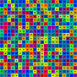 Stock Photo: Abstract multicolor squares background