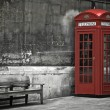 London, phone booth — 图库照片