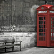 London, phone booth — Stock fotografie