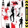 Abstract Crime Scene - Stock Vector