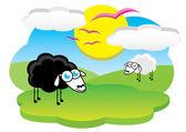 Mouton heureux — Vecteur