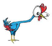 Clueless chicken — Stock Vector