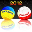 Stock Vector: 2012 Ukraine & Poland