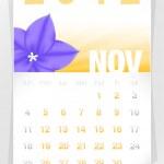 2012 Floral November Calendar — Stock Vector #6822582