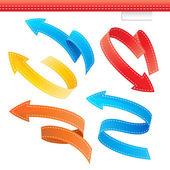 Colorful Arrows Set — Stock Vector