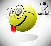 Smile Emoticon — Stock Vector