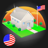 American House — Stock Vector