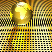 Golden Globe Background — Stockvektor