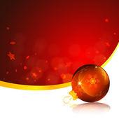 Weihnachtskarte rot ornament — Stockvektor
