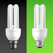 Energy Saving Light Bulbs — Stock Vector