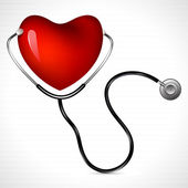 Stethoscope with Heart — Stockvector