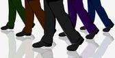 Business Walking — Stock Vector