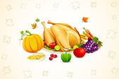 Thanksgiving Card — Vector de stock