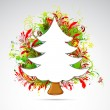 Floral Christmas Tree — Stock Vector #6841363