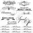 Vintage design elements for sale text - Stock Vector
