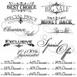 Vintage design elements for sale text — Stock Vector