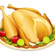 Roasted Holiday Turkey - Stock Vector