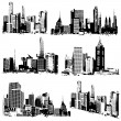 Grungy Cityscape - Stock Vector