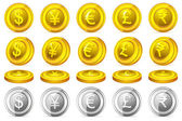 Currency Coin — Stock Vector
