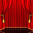 Stage Curtain - Stock Vector