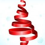 Christmas Tree shape Ribbon — Stock Vector