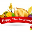 Stock vektor: Thanksgiving Card