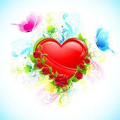 Floral Heart — Vector de stock