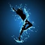 Splashing Dancing Lady — Stock Vector