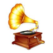 Antique Gramaphone — Stock Vector