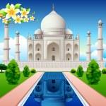 Front View of Taj Mahal — Stock Vector