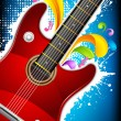 Colorful Guitar — Stock Vector