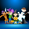 Kids Halloween Party - Stock Vector