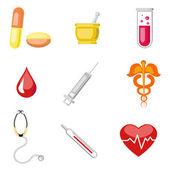 медицинские значок — Cтоковый вектор