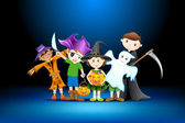 Kids Halloween Party — Stock Vector